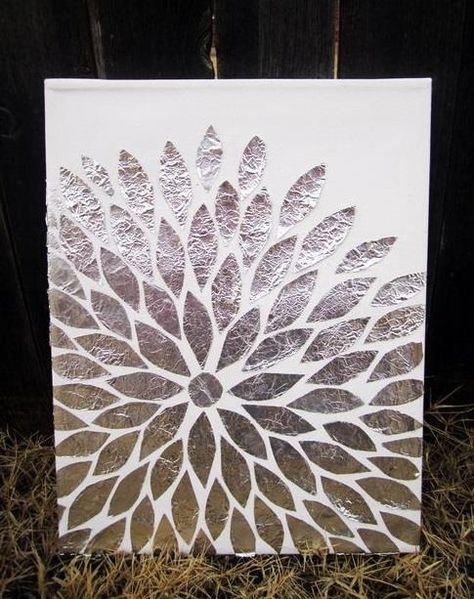 Beautiful Wall Art Made Out Of Tin Foil!!