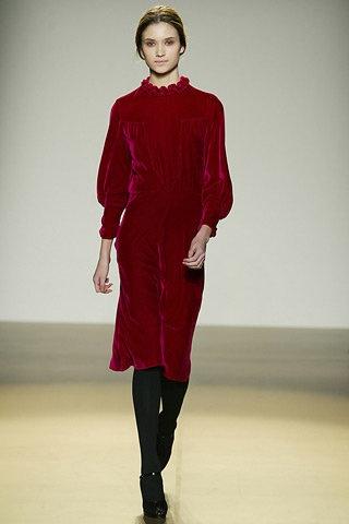 Nicole Farhi Fall 2006 Red Dress