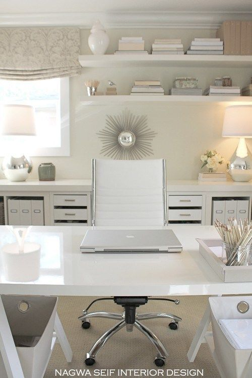 shelves/floorplan---Chic contemporary home office
