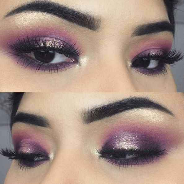 21 Purple Eyeshadow Looks for Brown Eyes > CherryCherryBeauty.com • Source: anban20 / Instagram
