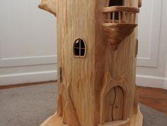 WOW! Tree Stump Fairy House for sale on felt