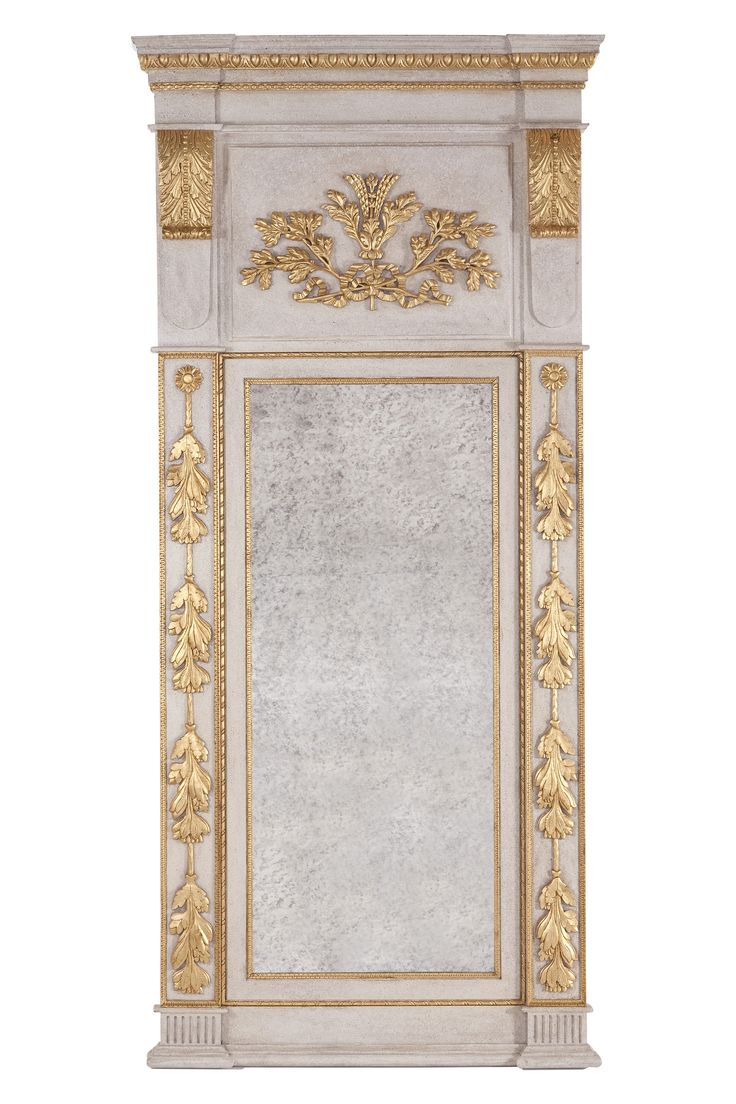 Buy Hand Carved Trumeau Floor or Hanging Mirror SC017 by Swede Collection - Made-to-Order designer Accessories from Dering Hall's collection of Traditional Mirrors.