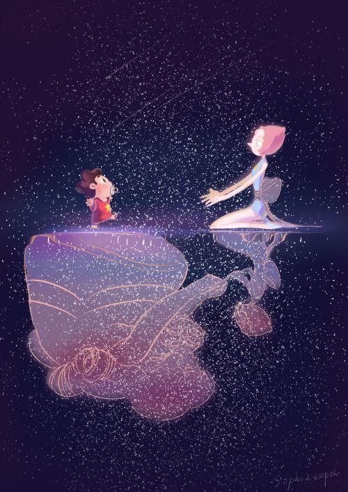 Steven universe rose pearl and steven