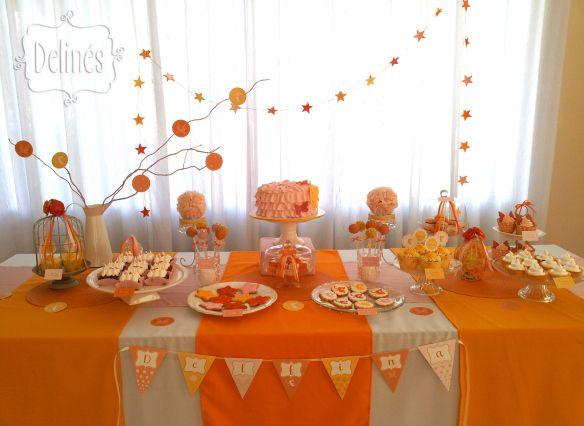 17 mejores ideas sobre mesa de dulces rosados en pinterest - Decoracion naranja ...