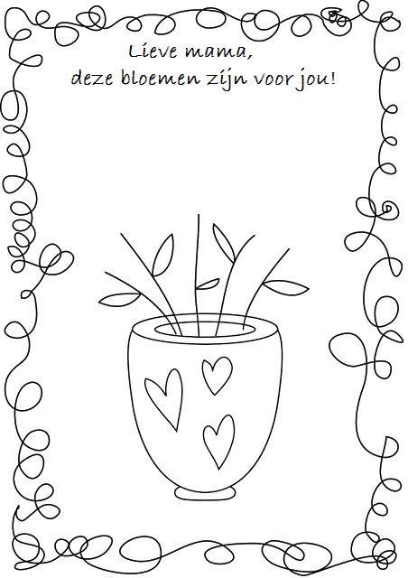 * Laat de kinderen de bloemen maken van bv. verf, propjes, scheuren, vouwen.....!