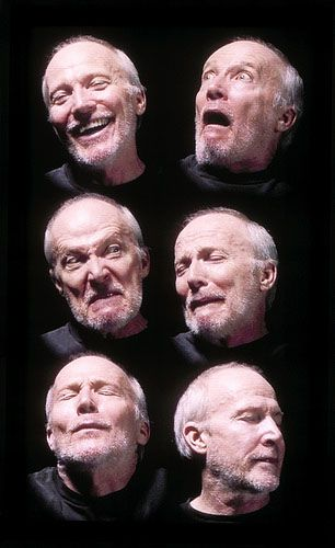 "Still from ""Six Heads,"" a video installation by Bill Viola."