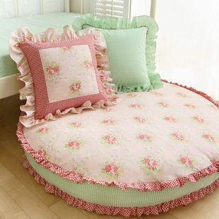 $177 romantic Rose pastoral cushion / round cushion fton sofa-ZZKKO