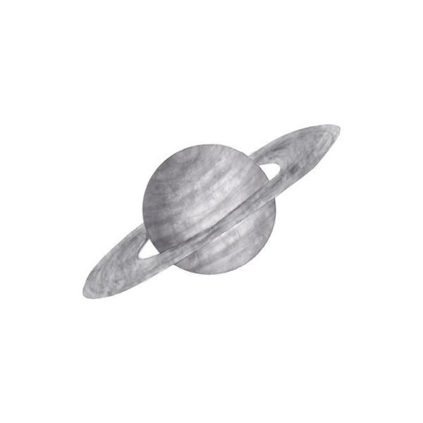 WALLSTICKER - STICKSTAY SATURN (GREY) - minikids.no