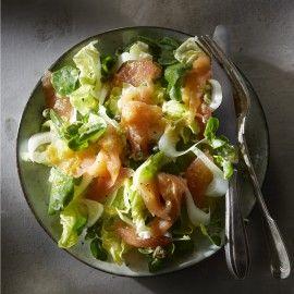 Zalmsalade met sinaasappeldressing