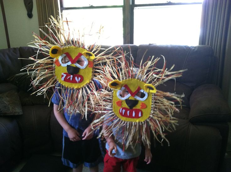 African Lion Mask Craft Project | Crafts, Family crafts ...