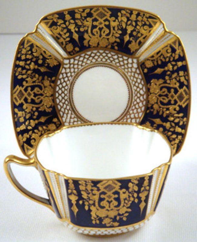 glasses case Superb Copeland Cobalt Tea Cup  amp  Saucer  item  833632  detailed views