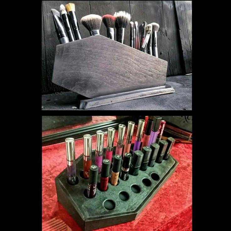 Coffin makeup holder