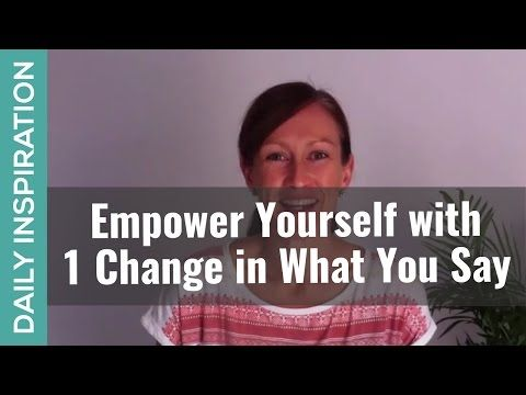 How to Empower Yourself ❤ SUBSCRIBE ❤ http://www.youtube.com/subscription_center?add_user=pinchmelivingdotcom -  What we say to other people, and what we say to ourselves inside our own heads, will either empower or disempower us on a daily basis. Click through for the full blog and 1 simple word change you can use immediately for more empowerment. Plus a free confidence boosting affirmations audio tool you can download https://www.pinchmeliving.com/empower-yourself/