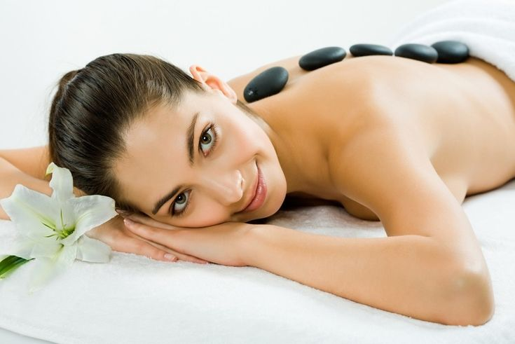 Hot stone massage therapy melts away tension, eases muscle stiffness and increases circulation and metabolism. Each 1 ½ -hour hot stone massage therapy session promotes deeper muscle relaxation through the placement of smooth, water-heated stones at key points on the body.