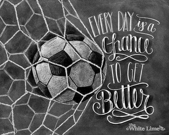 Art du football Soccer Decor citation inspirante par TheWhiteLime