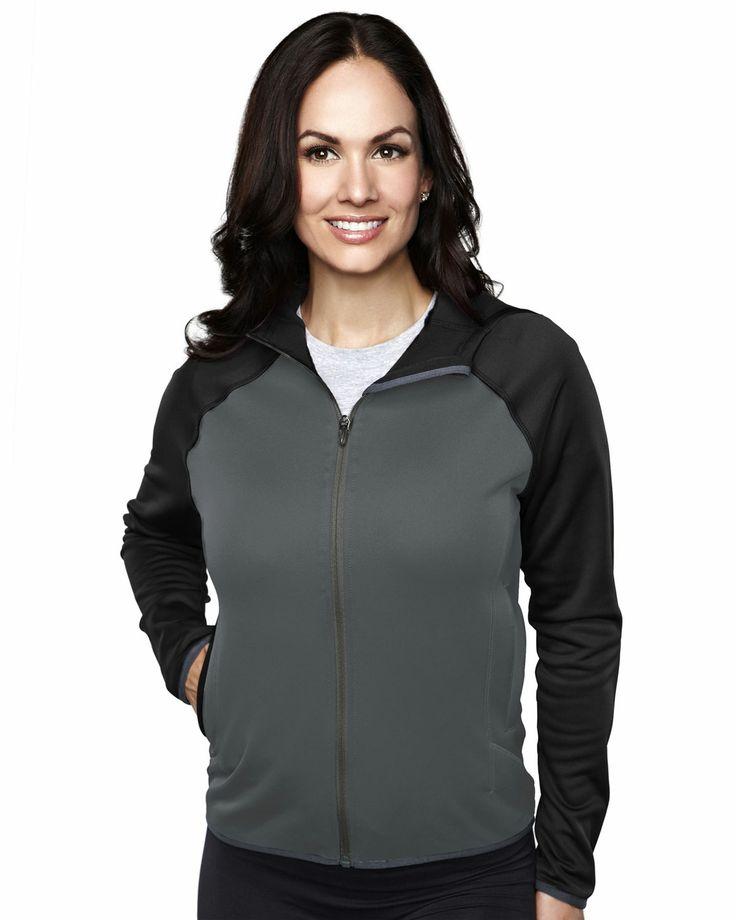 Women's Fleece Long Sleeve Ultra Cool Jacket With Hood (100% Polyester). Tri mountain 7387