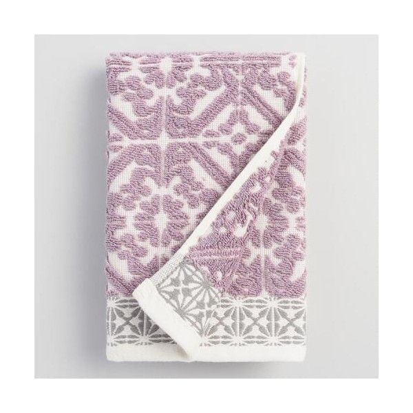 Cost Plus World Market Lavender Cassandra Sculpted Hand Towel ($9.99) ❤ liked on…