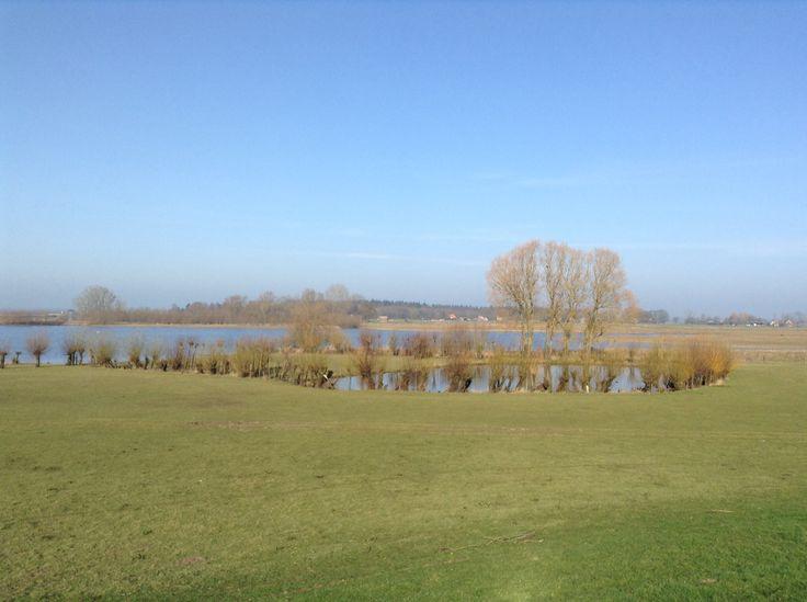 2014-03-09 Vanaf de dijk heb je een prachtig uitzicht op de uiterwaarden tussen Den Nul en Fortmond
