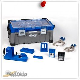 The Kreg Toolboxx™ Master Collection puts the power of Kreg Jig® and Kreg Joinery™ in one portable package, and it comes fully loaded... woodwerks.com #woodworking #Kreg #Tools #DIY