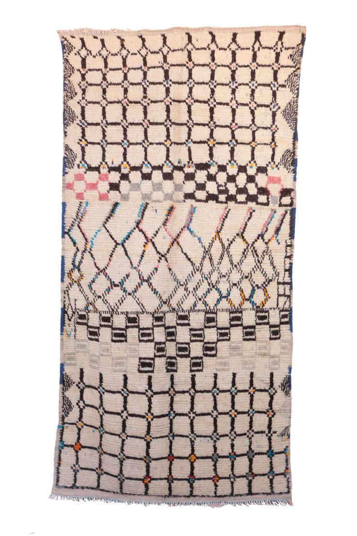 """A1514. Azilal Vintage Moroccan Rug, 5'3"""" x 10'2"""" feet   http://bit.ly/2glhFRD"""