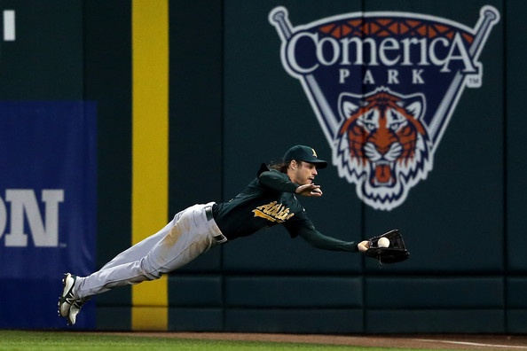 Josh Reddick getting it done. Division Series - Oakland Athletics v Detroit Tigers - Game 1
