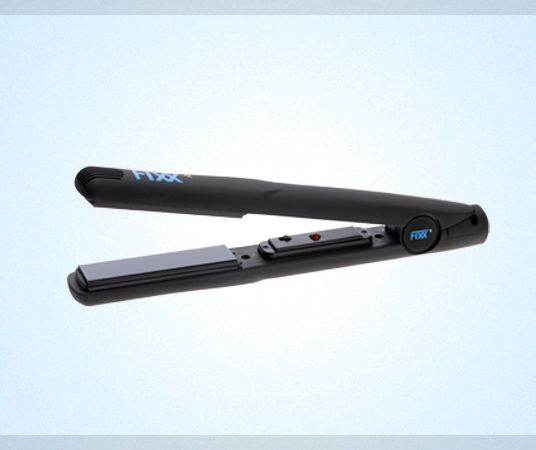 FixxRx Flat Iron — FixxRx Ceramic and tourmaline ionic technology to generate negative ions for frizz-free hair, Far-infrared heat in the hair shaft that locks in moisture and colour, A Dynamic Alignment System that eliminates hot spots