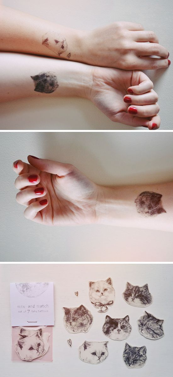 realistic, temporary tattoos on Wolf & Wood