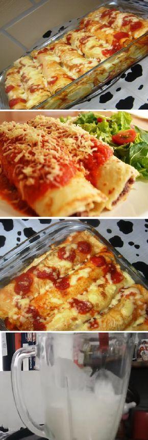 Cómo hacer Panqueques de Pollo en la Licuadora, con trocitos de queso la receta Perfecta!! #pollo #panqueques #crepes #queso #mozzarella #perfect #licuadora #pan #panfrances #pantone #panes #pantone #pan #receta #recipe #casero #torta #tartas #pastel #nestlecocina #bizcocho #bizcochuelo #tasty #cocina #chocolate #tomate #tomatoes En la licuadora colocar la leche, los huevos, harina, azúcar y sal, licuar por unos segundos hasta que...