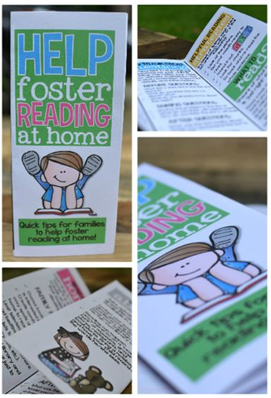 Help Foster Reading at Home - GREAT brochure for parents at back to school night