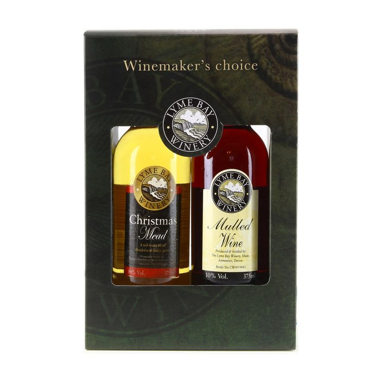 A festive gift pack consiting of Lyme Bay's delicious Christmas Mead and Mulled Wine. The Mulled Wine is a delicious blend of traditional country wine and festive spices. The Christmas Mead is a smooth, rich honey wine blended with lemon and orange zest and other festive spices. The perfect festive duo, just heat gently in a saucepan and serve warm, perfect on chilly winter evenings.