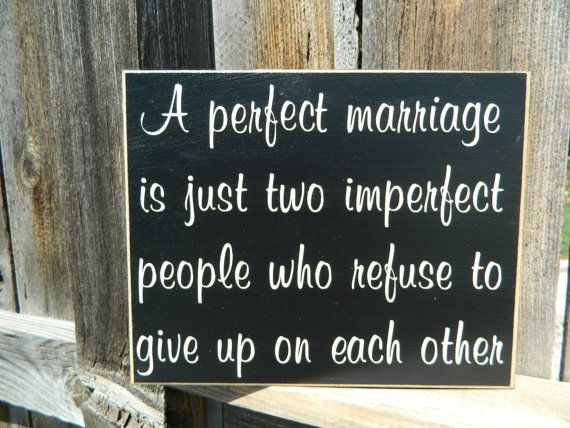 Inspirational QuoteA perfect marriage wood by BuzzingBeesCrafts, $14 ...