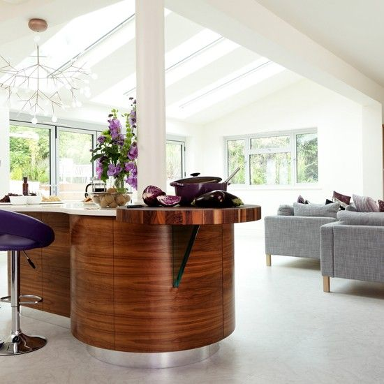 Walnut kitchen extension  - more the extension than the walnut...