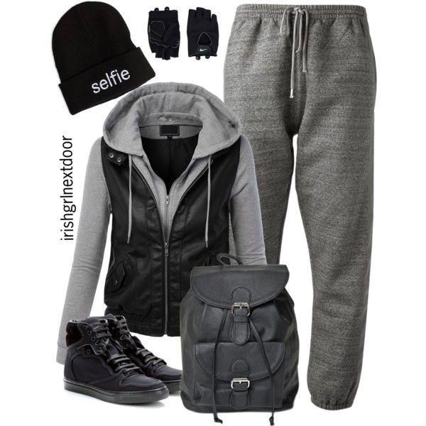 """We'll Never Be Royals"" by irishgrlnextdoor on Polyvore comfortable outfits/ tomboy style for girls #gym #sweats #workout"