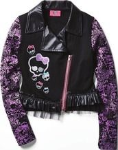 Monster High Girls' French Terry Jacket from Sears Catalogue  $34.99