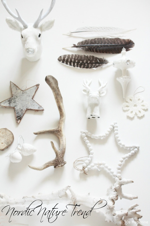 nordic nature and arctic christmas decorations