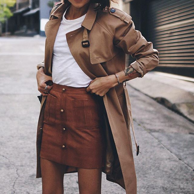 Skirt @_aje_ , trench #topshop