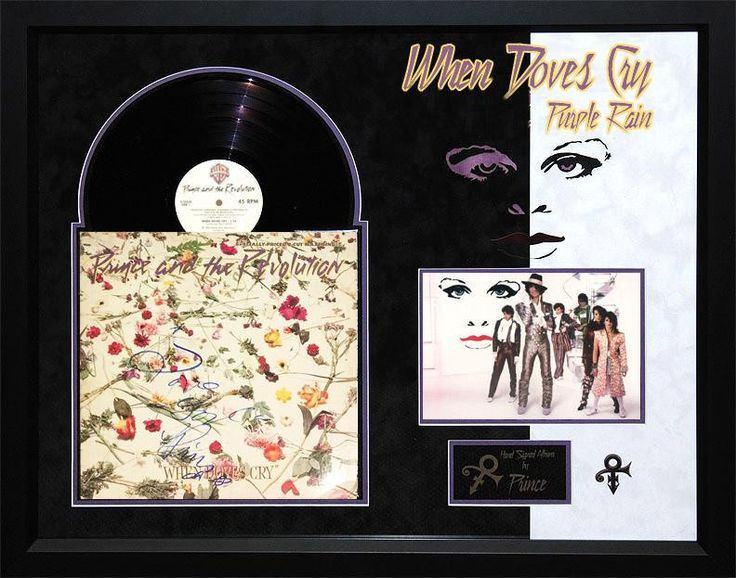 """Prince - """"When Doves Cry"""" signed album"""