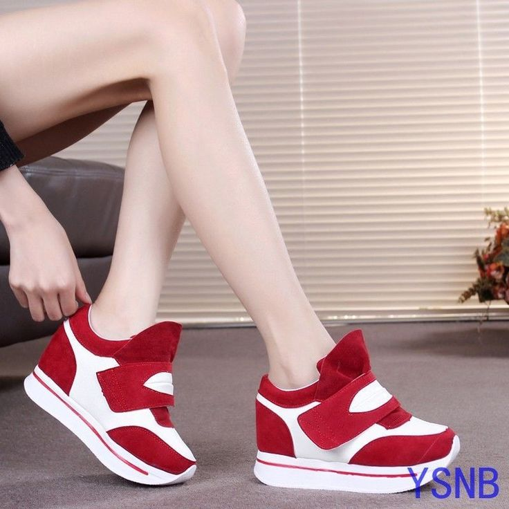 Women Fashion Trainers Travelling Sport Sneakers High Heel Casual Athletic Shoes