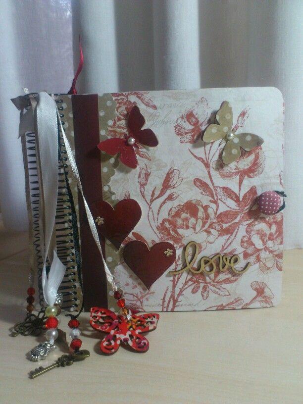 Libreta romántica scrap
