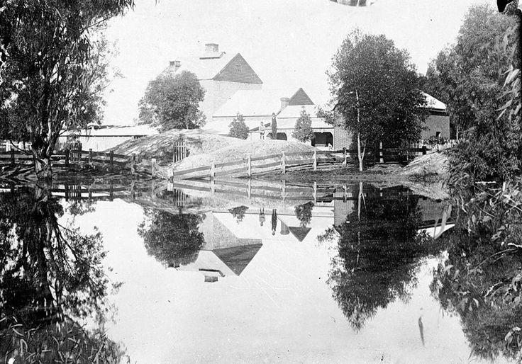 The Warracknabeal Brewery & Aerated Water Factory on Yarriambiac Creek, Warracknabeal, established 1890 & owned by Mr E.C. Stevens, c1900.