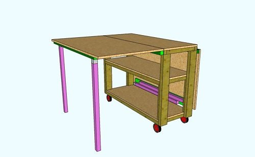 Sewing / Quilting / Crafting Work Table (Plans Only)