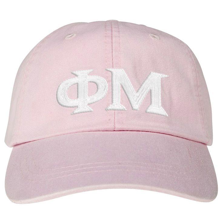 Phi Mu Lettered Premium Pastel Hat $25