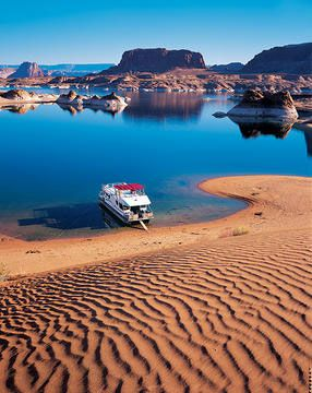 Lake Powell. If you get a chance to do it, take it! One of the best places in the world. Just 2.5 hours North of Flagstaff, AZ