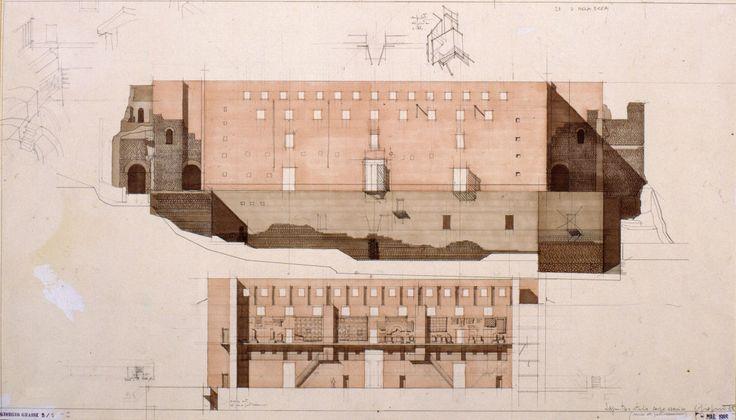 Giorgio Grassi, Chen Hao · Sagunto Roman Theatre, 1985-86 (1990-93)