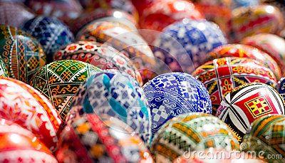Beautiful romanian decorated ester eggs.