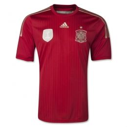 2014 Spain Home Red Jersey Shirt