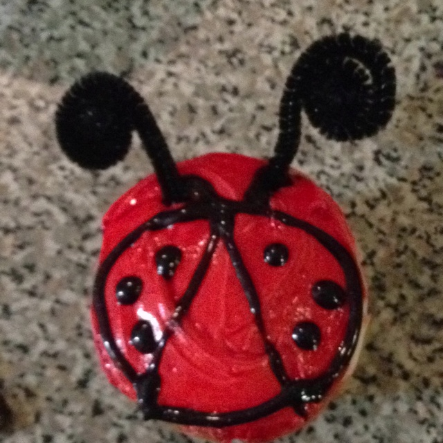 Ladybug Cupcakes by Zouka for Sophie's 1'st Birthday!!