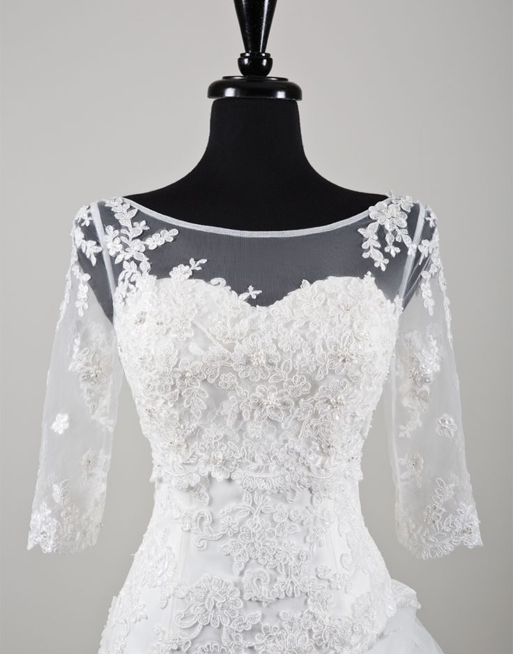 32 best wedding lace jackets bolero images on for Wedding dress lace bolero