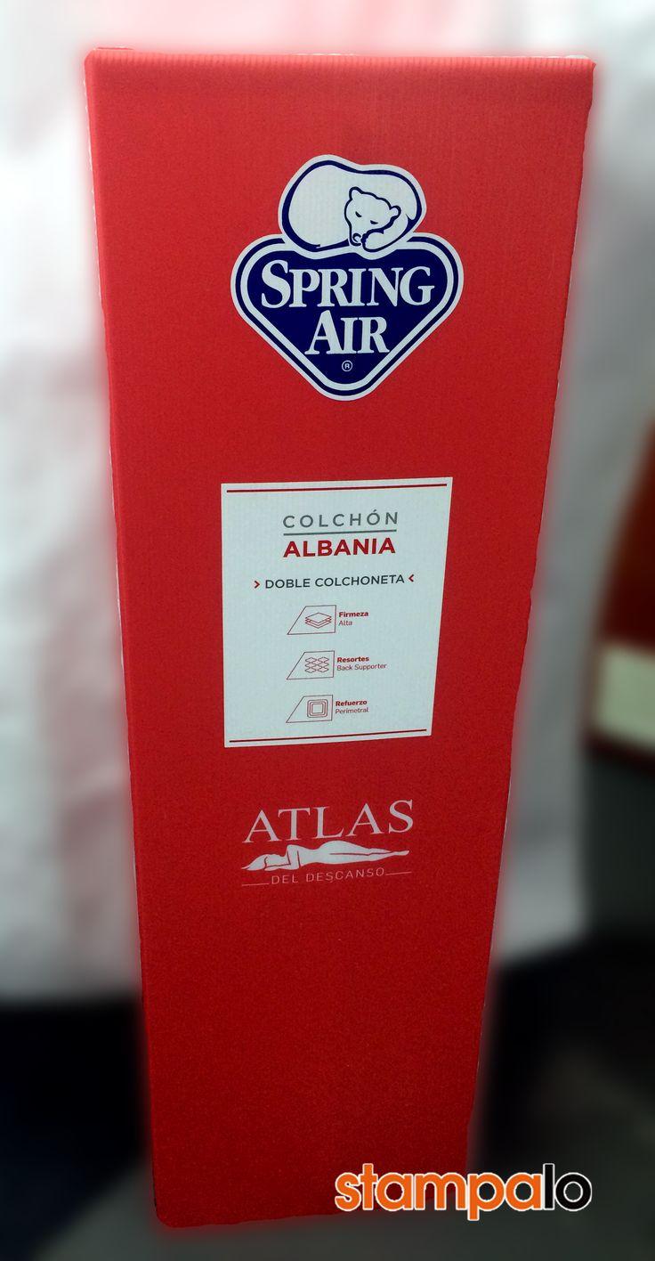 Totem para Colchones Atlas. Más información www.stampalo.com