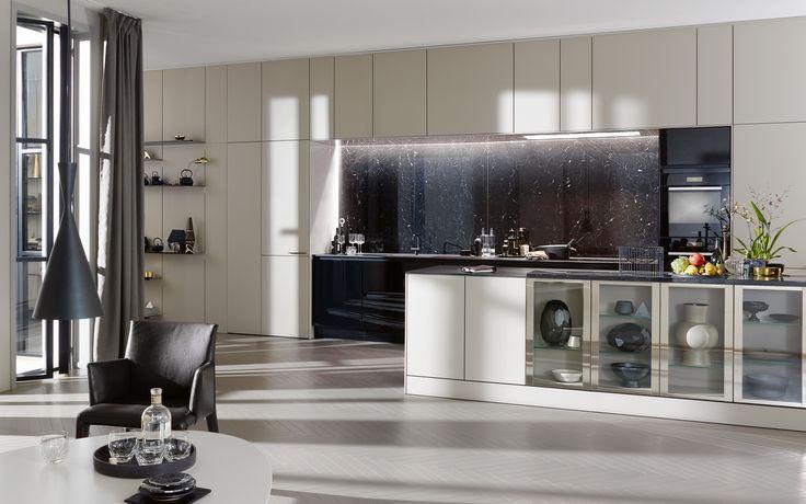 Moderne keuken met greep SE 8008 LM | SieMatic.nl